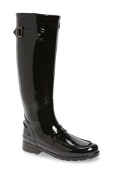 Hunter Women's Refined Tall Gloss Penny Loafer Rain Boot