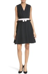 Ted Baker Women's London Vexi Contrast Waist Gathered Fit And Flare Dress