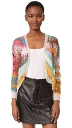 Rodarte Knit Cardigan Pink Blue Yellow
