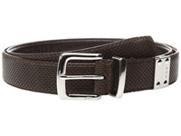 John Varvatos Lamb Reversible Belt Chocolate Men's Belts Brown