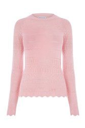 Warehouse Pretty Pointelle Jumper Pastel Pink