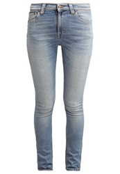 Nudie Jeans Pipe Led Slim Fit Jeans Frosty Nails Light Blue