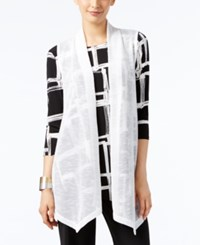 Alfani Long Open Front Vest Only At Macy's Bright White
