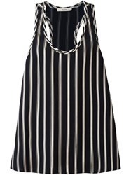 Etro Striped Tank Top Black