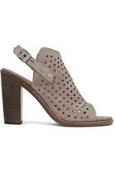 Rag And Bone Wyatt Perforated Suede Sandals Gray