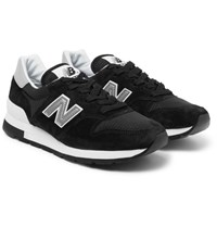 New Balance 995 Suede And Mesh Sneakers Black