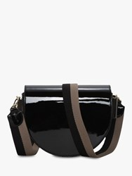 Liebeskind Berlin Mixed D Shaped Cross Body Bag Black Patent