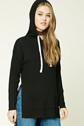 Forever 21 Ribbed Drawstring Hoodie