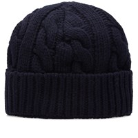 Oliver Spencer Chunky Knit Beanie Blue