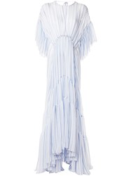 Romance Was Born Louis Striped Tiered Gown 60