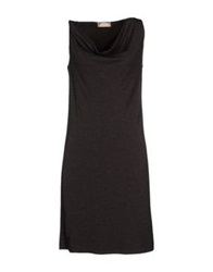 Gattinoni Knee Length Dresses Steel Grey