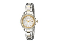 Citizen Fe1124 58A Silhouette Crystal Two Tone Stainless Steel Watches Silver