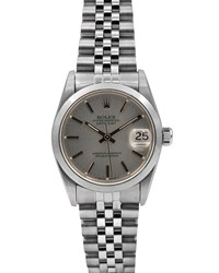 Rolex Pre Owned 31Mm Datejust Jubilee Automatic Bracelet Watch White Dial Silver