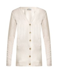 Gabriela Hearst Patrick Cashmere And Silk Blend Cardigan Ivory