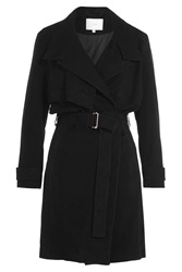 Iro Gitton Suede Trench Coat Black