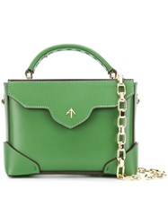 Manu Atelier Micro Bold Top Top Handle Bag Green