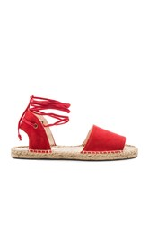Soludos Balearic Tie Up Sandal Red