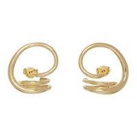 Charlotte Chesnais Gold Round Trip Earrings