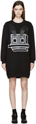 Mcq By Alexander Mcqueen Black Electro Bunny Pullover Dress