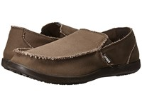 Crocs Santa Cruz Espresso Espresso Slip On Shoes Brown