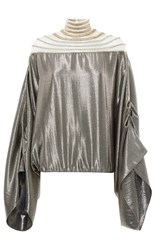 Genny Metallic Top Silver
