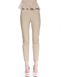 Bliss Skinny Back Zip Pants Khaki