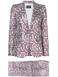 Dsquared2 Patterned Two Piece Suit Pink