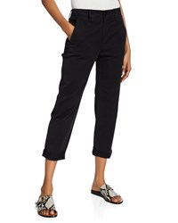 Rag And Bone Buckley Cropped Mid Rise Chino Pants Black