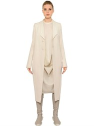 Rick Owens Cotton And Silk Long Jacket