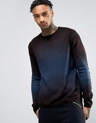 Religion Knitted Fade Out Jumper Black