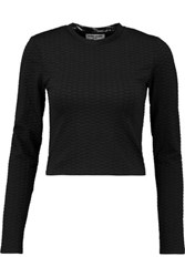 Opening Ceremony Thalia Textured Stretch Knit Top Black