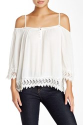 Madison Square Wilde Heart Gypsy Warrior Blouse White