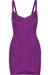 Herve Leger Bandage Mini Dress Violet