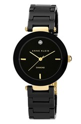 Women's Anne Klein Round Ceramic Bracelet Watch 33Mm Black