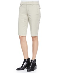 Vince Twill Bermuda Shorts Light Khaki
