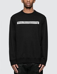 White Mountaineering Logo Printed Sweatshirt Black