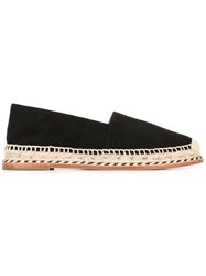 Paloma Barcelo Braided Detail Espadrilles Black
