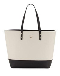 Cole Haan Beckett Colorblock Leather Tote Bag Black White