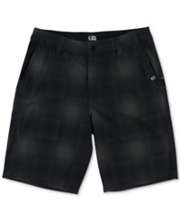 Metal Mulisha Men's Lunatic Plaid Hybrid Shorts Black