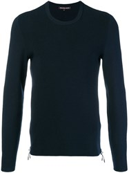 Michael Kors Collection Round Neck Jumper Blue