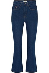 Attico Blanca High Rise Kick Flare Jeans Dark Denim