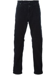 Closed Straight Leg Trousers Black