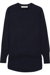 Cedric Charlier Wool And Cashmere Blend Sweater Midnight Blue