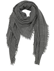 Faliero Sarti Cashmere Prince Of Wales Scarf Black