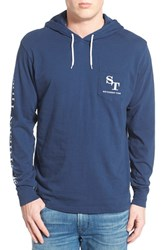 Men's Southern Tide Graphic Hooded Long Sleeve T Shirt Yacht Blue
