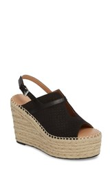 Linea Paolo 'S Everyly Espadrille Wedge Sandal Black Nubuck Leather
