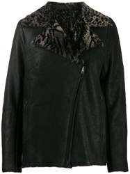 Salvatore Santoro Shearling Lined Jacket Black
