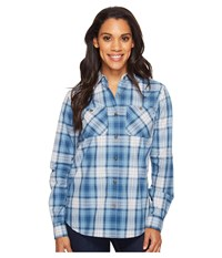 Carhartt Huron Shirt Ocean Blue Women's Short Sleeve Button Up