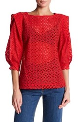 Marc Jacobs Peasant Blouse Red