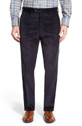 Jb Britches Men's Big And Tall J.B. Britches Flat Front Corduroy Trousers Navy